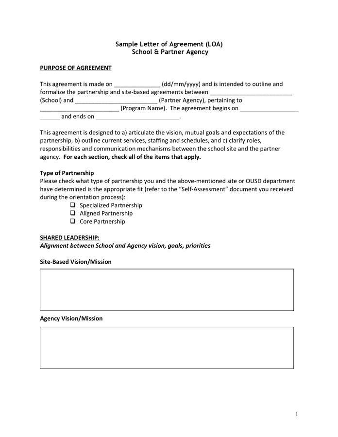 Letter Of Agreement Sample from static.dexform.com