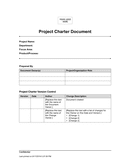 Project charter document sample page 1 preview
