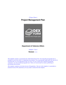 Project management plan template page 1 preview
