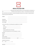 Soccer medical release form page 1 preview