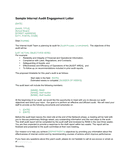 Sample internal audit engagement letter (Canada) page 1 preview