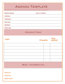 Agenda template page 1 preview
