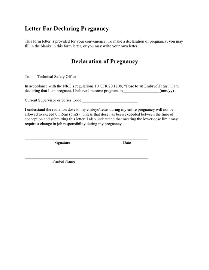 Pregnancy Confirmation Letter Template from static.dexform.com