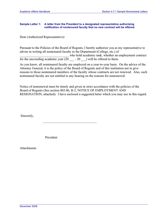 Non Renewal Letter Sample from static.dexform.com