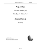 Software project plan template page 1 preview