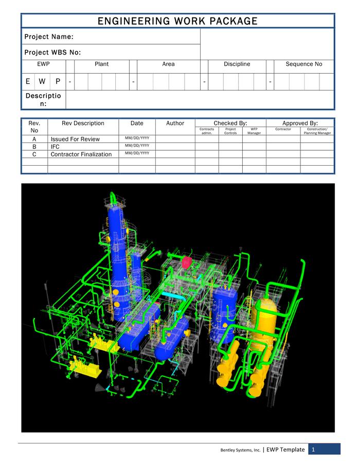 Engineering work package template page 1