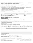 State medical examination form (Los Angeles) page 1 preview
