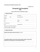 Therapeutic Use Exemptions Form page 1 preview