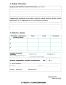 Therapeutic Use Exemptions Application Form page 2 preview