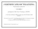 Certificate of training template page 1 preview