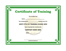 Training certificate template page 1 preview
