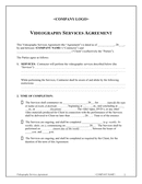 Videography services agreement template page 1 preview