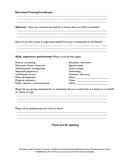 Sample board of directors application page 2 preview