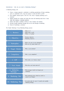 Marketing strategy template page 2 preview