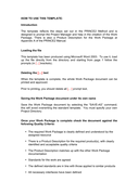 Work package template page 1 preview