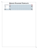 Budget planner template page 2 preview
