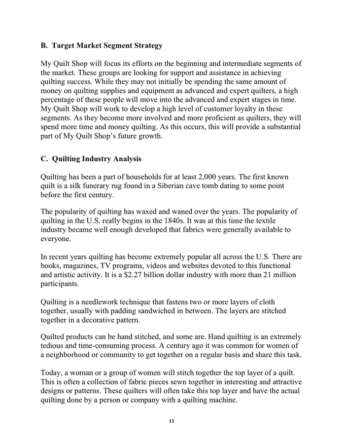 Sample Business Plan Template In Word And Pdf Formats Page 11 Of 23