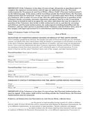 Parental authorization for treatment of, travel with, a minor child page 1 preview