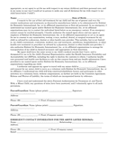 Parental authorization for treatment of, travel with, a minor child page 2 preview