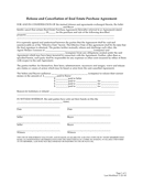 Release and cancellation of real estate purchase agreement page 1 preview