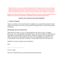 Notice of claim on security deposit sample page 1 preview