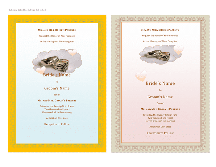 Wedding invitation template preview