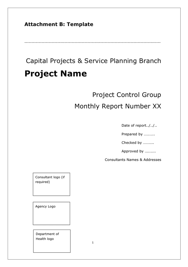 Monthly report template preview