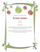 Holiday party invitation flyer page 1 preview