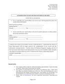 Authorization to disclose/release medical records form page 2 preview