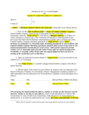 Affidavit of US citizenship page 1 preview