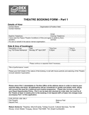 Theatre booking form page 1 preview