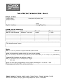 Theatre booking form page 2 preview