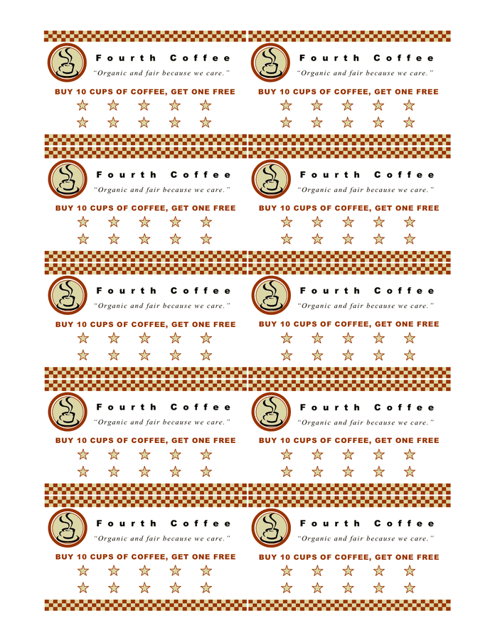 Coffee coupon template preview