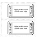 Coupon template page 1 preview