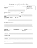 Company sample evaluation form page 1 preview