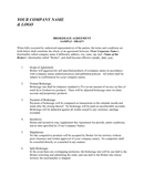 Company brokerage agreement sample page 1 preview