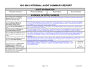 Internal summary audit report page 1 preview