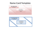 Name card template page 1 preview