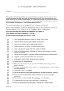 Learning styles questionnaire sample page 1 preview