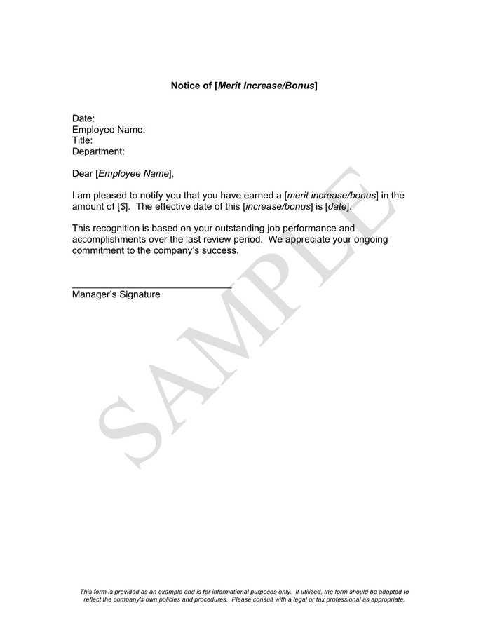 request for salary increase sample letter