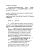 Sponsorship agreement template page 1 preview