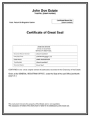 Great seal certificate template page 1 preview