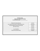 Financial statement of retained eranings template page 1 preview