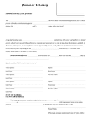 Power of attorney form (Florida) page 1 preview