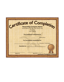 Certificate of completion template page 1 preview