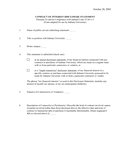 Conflict of interest disclosure statement template page 1 preview