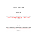 Tenancy agreement example page 1 preview