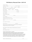 Medical release form sample page 1 preview