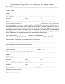 Football club registration and medical release form page 1 preview