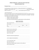Sample church medical permission form page 1 preview